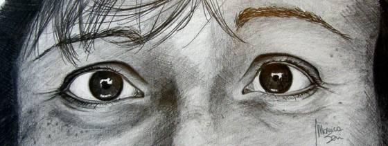Occhi di maschere che non sanno più come doversi comportare
